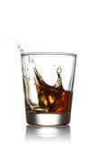 Стекло вискиа с выплеском Стоковое фото RF