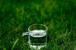 Стекло воды на том основании Стоковые Изображения RF
