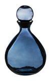стекло голубой бутылки темное Стоковое Изображение RF