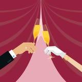 Стекло жениха и невеста clinking бесплатная иллюстрация