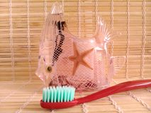 Стекло зубной щетки Стоковые Фото