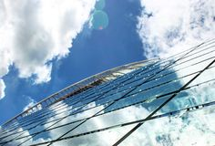 Стекло и архитектура стоковая фотография rf