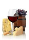 Стекло и сыр вина Стоковые Фото