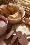 Стекло какао и полумесяца Стоковая Фотография RF