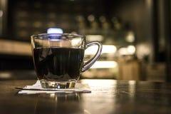 Стекло кофе в кафе Стоковое Фото