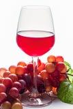 Стекло красного вина/бокала вина/бокала вина на белой предпосылке Стоковая Фотография RF