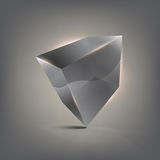 стекло кубика 3d Стоковое Изображение