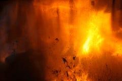 Стекло на фронте камина Стоковое фото RF