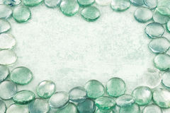 Стекло падает предпосылка aqua Стоковые Изображения RF