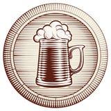 Стекло пива вектора Стоковые Изображения