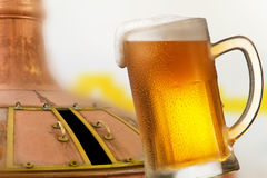 Стекло пива в винзаводе Стоковое фото RF