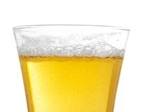 Стекло пива с пеной и пробирками Стоковые Изображения RF