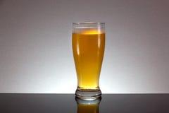 Стекло пива с пеной на серой предпосылке Стоковое Изображение