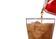 стекло питья мягкое предпосылка изолировала белизну студии съемки плоскогубцев Стоковая Фотография RF