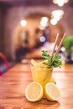 Стекло свежего лимонада стоковое изображение rf
