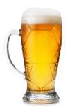 Стекло светлого пива изолированное на белой предпосылке Стоковая Фотография RF