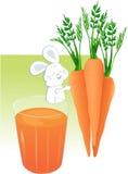 Стекло сока моркови Стоковое Изображение