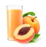 Стекло сока персика Стоковые Изображения