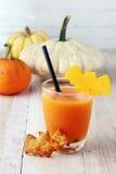 Стекло сока хеллоуина или smoothie овоща Стоковая Фотография