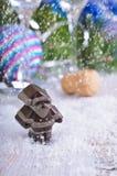 стекло состава рождества bauble голубое Стоковые Фотографии RF