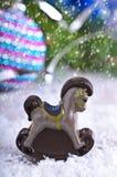 стекло состава рождества bauble голубое Стоковая Фотография