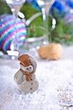 стекло состава рождества bauble голубое Стоковое Фото