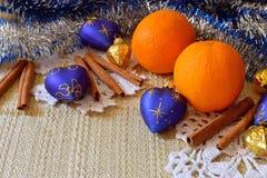 стекло состава рождества bauble голубое Стоковые Изображения