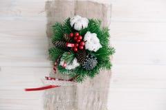 стекло состава рождества bauble голубое Стоковая Фотография RF