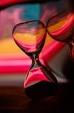 Стекло часа принятое в студию стоковая фотография rf