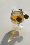 Стекло чашки вишни Стоковое Изображение RF