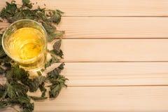 Стекло чая крапивы Стоковые Фото