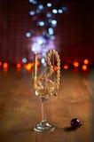 Стекло шампанского и шариков Стоковое фото RF