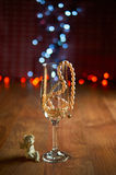 Стекло шампанского и шариков Стоковые Фото