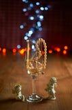 Стекло шампанского и шариков Стоковая Фотография RF