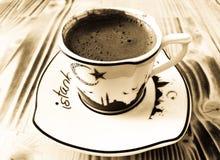 стекло espresso кофе cezve холодное как, котор служят малая турецкая вода Стоковое фото RF