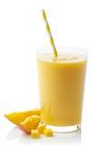 Стекло smoothie манго Стоковое Изображение RF