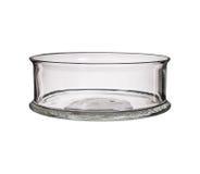 Стеклянная ваза изолированная на белой предпосылке Стоковая Фотография