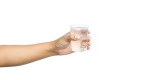 стеклянная вода удерживания руки Стоковое фото RF
