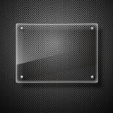 Стеклянная иллюстрация вектора рамок Стоковые Фотографии RF