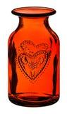 стеклянная красная ваза Стоковое Изображение RF