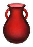 стеклянная красная ваза Стоковые Фото