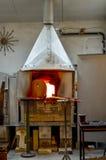 Стеклянная печь фабрики Стоковое Изображение RF