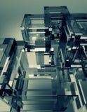 Стеклянная предпосылка конспекта куба Стоковое Изображение