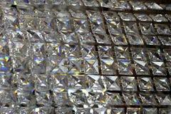 Стеклянная предпосылка кристаллов Стоковое Изображение