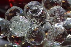 Стеклянная предпосылка кристаллов Стоковые Изображения