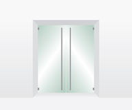 Стеклянная прозрачная дверь Стоковые Фотографии RF