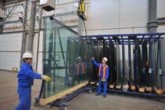 Стеклянная производственная линия Стоковое Фото