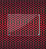 Стеклянная пластинка на красной алюминиевой предпосылке технологии Стоковая Фотография RF