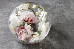 Стеклянная сфера с цветочной композицией внутрь Стоковые Фото