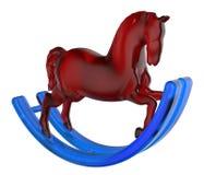 Стеклянная тряся лошадь Стоковые Изображения RF